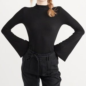 A&F Mock Neck Long Sleeve with Flare